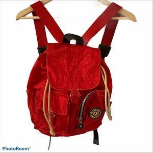 Kipling Honeybee Nylon Backpack in Red